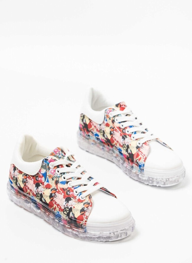 Sneakers America Style με Διάφανη Σόλα